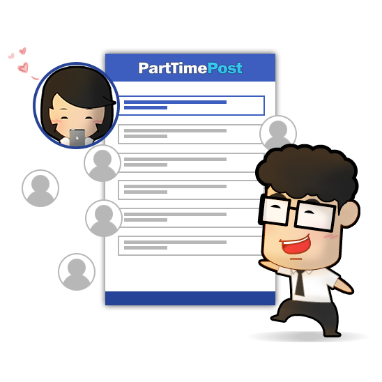 All candidates in one place at PartTimePost.com